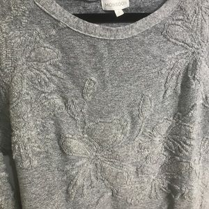 Monsoon Sweaters - Monsoon textured floral wool blend sweater size S
